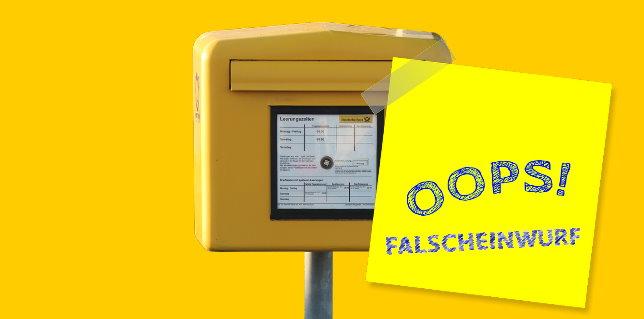Brief Falsch Eingeworfen Briefkasten