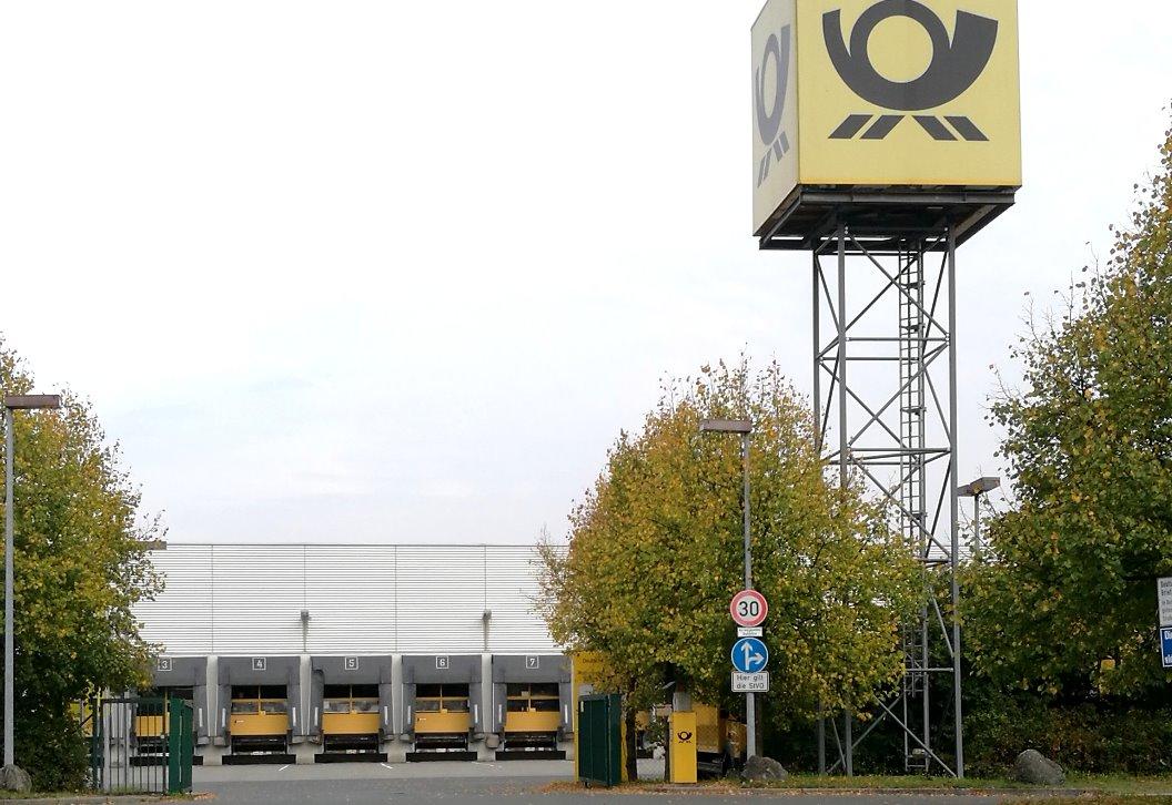 Zufahrt zum Briefzentrum in Bayreuth