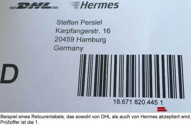 pr fziffern berechnung f r paketnummern dhl dpd hermes. Black Bedroom Furniture Sets. Home Design Ideas