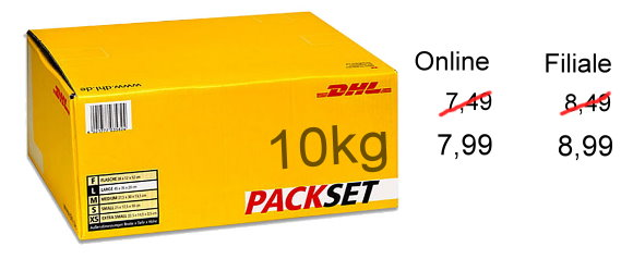 dhl paket bis 10kg jetzt 50 cent teurer. Black Bedroom Furniture Sets. Home Design Ideas