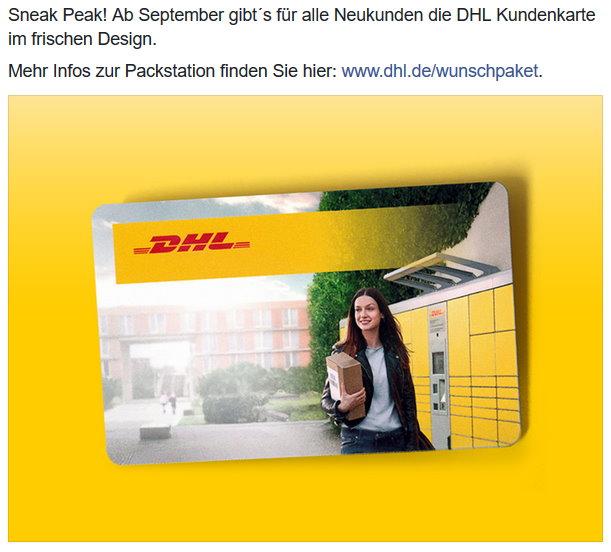 packstation neue karte Neue Kundenkarte für Packstation / Pilotversuch DHL Depot