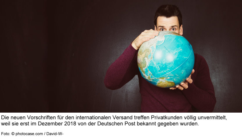 Portohammer ab 1.1.2019 beim internationalen Warenversand mit DHL Deutsche Post