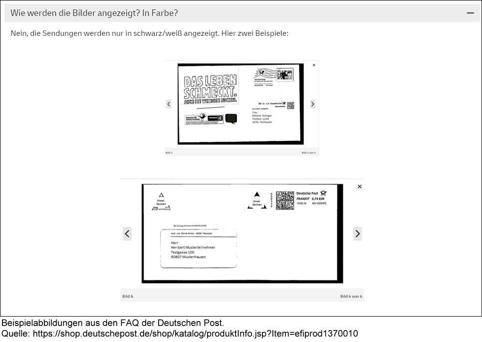 Briefankundigung Der Deutschen Post Registrierung Bei Gmx Und Web De Jetzt Moglich