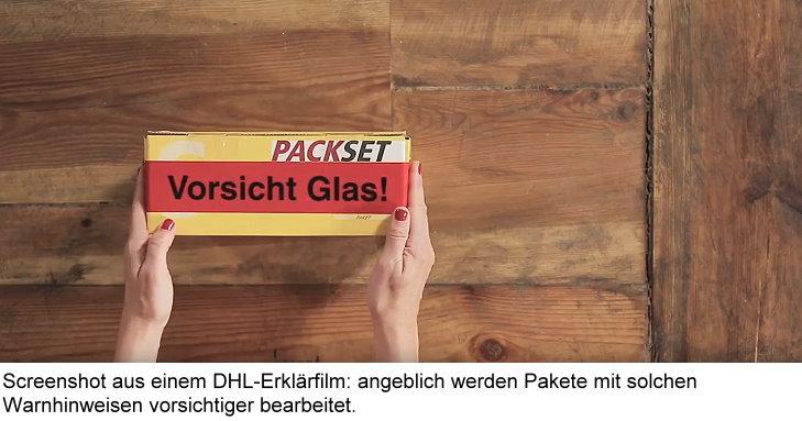 Dhl Berücksichtigt Angeblich Vorsicht Glas Aufkleber Auf Paketen