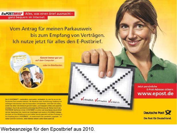 deutsche postbrief