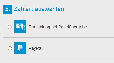 Hermes-Bezahlung mit Paypal