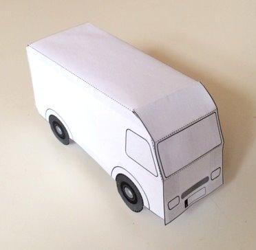 Bastelbogen Für Ein Postauto Paketauto