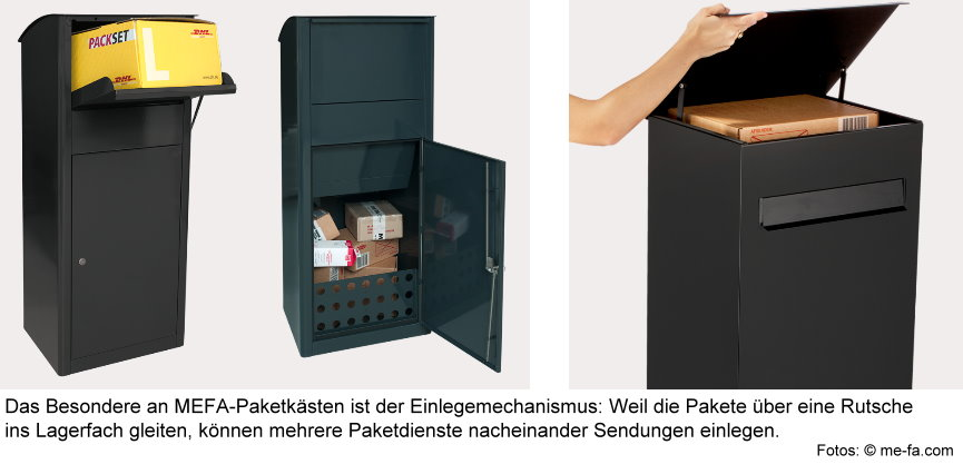 bersicht und vergleich von mefa paketk sten. Black Bedroom Furniture Sets. Home Design Ideas