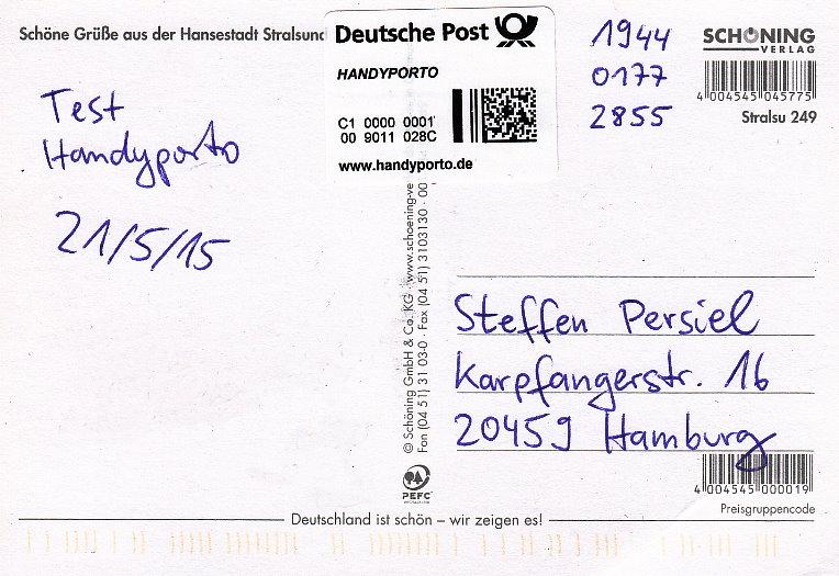 Porto für postkarte